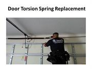 Door Torsion Spring Replacement