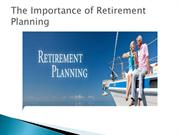 The Importance of Retirement Planning