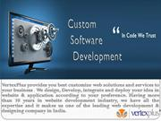 Custom Software development at VertexPlus