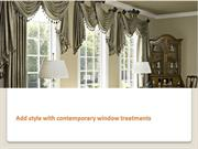 Add style with contemporary window treatments