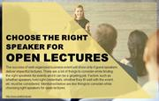Following the right steps to hire speakers for open lectures.
