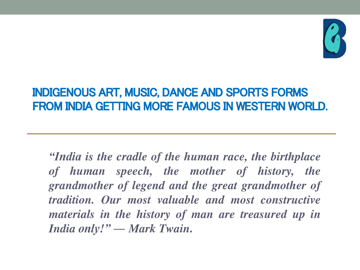 Indigenous art music and dance essay