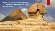 EGYPT: RESEARCH REPORT / GRADING RUBRIC