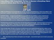Colucci Shares With Young Adults The Keys to Success in Everything