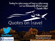 Best Inspirational Travel Quote by Elizabeth Gilbert