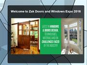 Welcome to Zak Doors and Windows Expo 2016