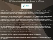 AAFCPAs Announced as Bronze Sponsor for NTI Event