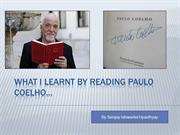 What I learnt by Reading Paulo Coelho