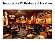 Importance Of Restaurant Location