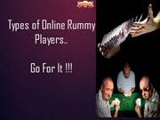 Card games: Different types of online rummy players | Play rummy now!