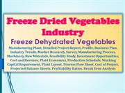 Freeze Dried Vegetables industry, Freeze Dehydrated Vegetables