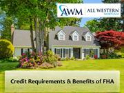 Credit Requirements for FHA loan