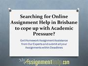 Get Assignment Help for Brisbane Students