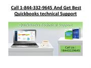Call 1-844-332-9645 And Get Best  Quickbooks technical Support