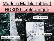 Modern Marble Tables | NORDST TableUnique