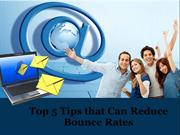 Top 5 Tips that Can Reduce Bounce Rates