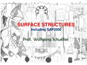 Surface Structures (with SAP2000 case studies)