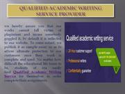 Qualified Academic Writing Service Provider