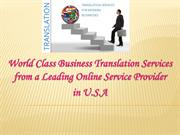 World Class Business Translation Services from a Leading Online Servic