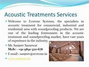 Acoustic Treatments Services, acoustic Wall Tiles and Panels