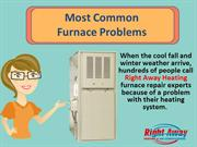 Most Common Furnace Problems