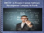 DBS IT -A Premier Custom Software Development Company In Perth