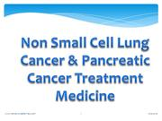 Non small cell lung cancer-Pancreatic cancer Treatment Medicine