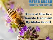 Kinds of Effective Termite Treatment By Metro Guard