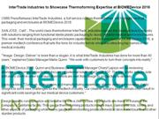 InterTrade Industries to Showcase Thermoforming Expertise