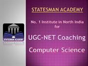 Join Statesman Academy For NET Computer Science Coaching In Chandigarh