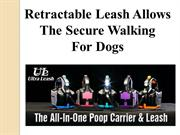 Retractable Leash Allows The Secure Walking ForDogs