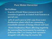 Pure Water Harvester