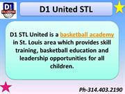 Join D1 UNITED STL Basketball Academy to Improve your Game