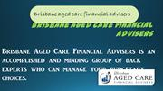 Aged care financial planning Brisbane
