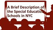 A Brief Description of the Special Education Schools in NYC