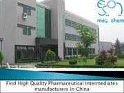 Find High Quality Pharmaceutical Intermediates manufacturers in China
