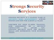 Corporate Security - Strongs Security