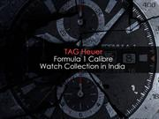 TAG Heuer Formula 1 Calibre Watch Collection in India