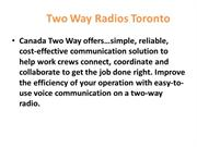 Two Way Radios Toronto | CanadaTwo Way