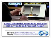 Global Industrial 3D Printing Industry 2016, Trends and Forecast Repor