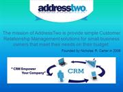 Simple CRM for Small Business - Address Two