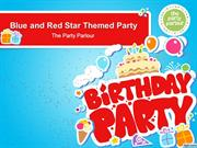 Blue and Red Star Themed Party