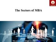 The Sectors of MBA