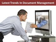 Latest Trends In Document Management