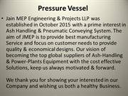 Pressure Vessel Manufacturer in Delhi|Jmep