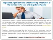 Registered Agent Services-Understanding Importance of the Service of P