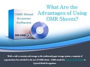 Advantages of Using OMR Sheets