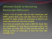 Ultimate Guide to Becoming Runescape Billionaire