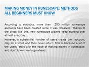 Making money in runescape: methods all beginners must know