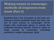 Making money in runescape: methods all beginners must know (Part 2)